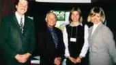 From left to right: Barry Freisen of the Nova Scotia Department of the Environment; N.S. Minister of Environment Ron Russell; Connie Vitello of Solid Waste & Recycling magazine; and, Susan Antler of The Composting Council of Canada.