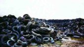 The Otterwood Tire dump near Wilsonville, Ontario.