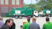 Waste Management of Canada truck navigating the course.